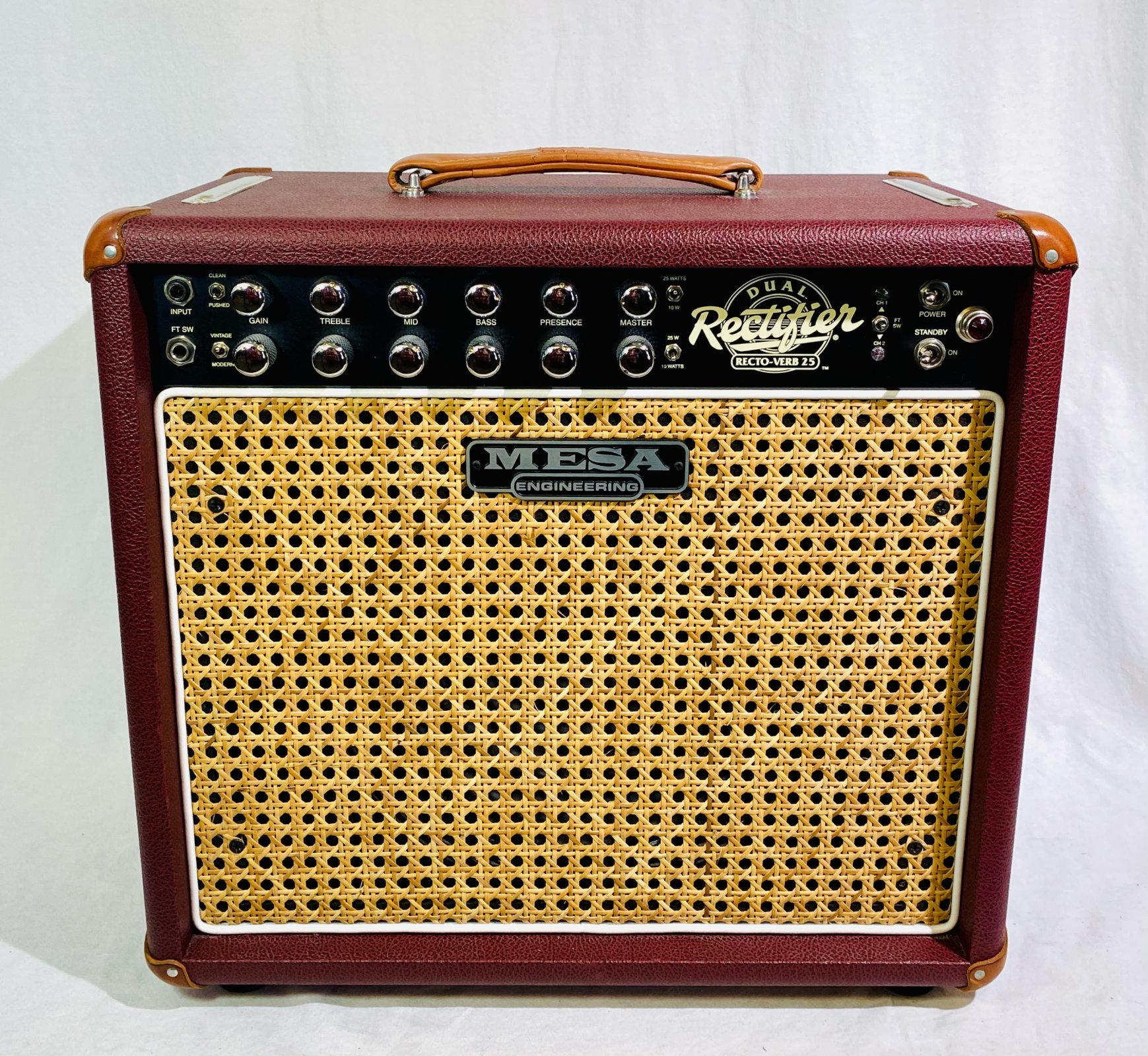MESA BOOGIE RECTO-VERB 25 1X12 TUBE COMBO AMP, FOOTSWITCH, COVER