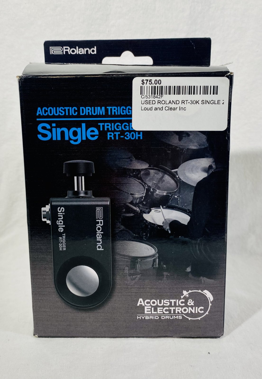 USED ROLAND RT-30H SINGLE ZONE DRUM TRIGGER