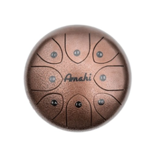 AMAHI 6 STEEL TONGUE DRUM BRONZE MATTE, 8 NOTE G MAJOR WITH CARRY BAG