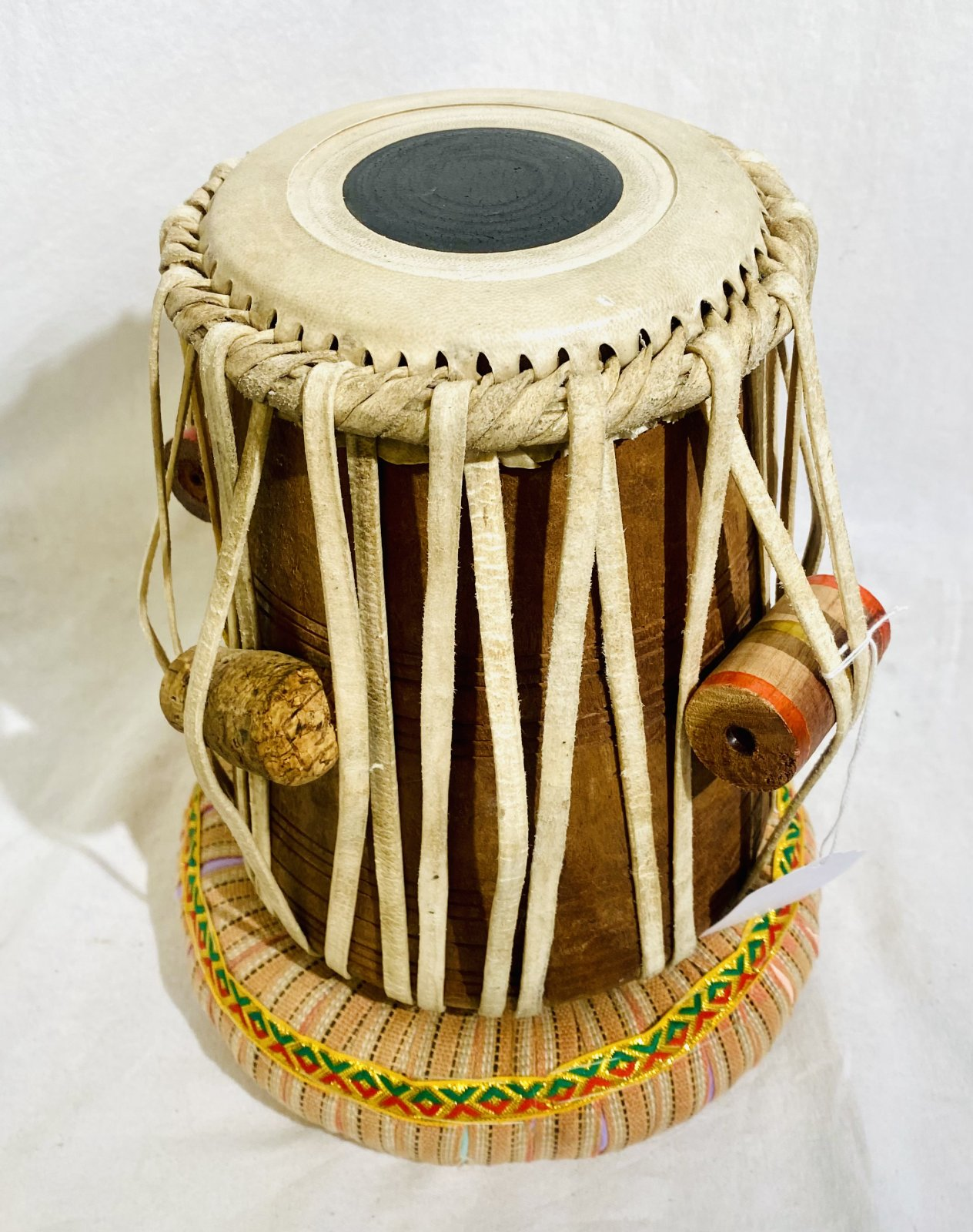 INDIAN 5 1/2 TABLA HAND DRUM WITH BASE