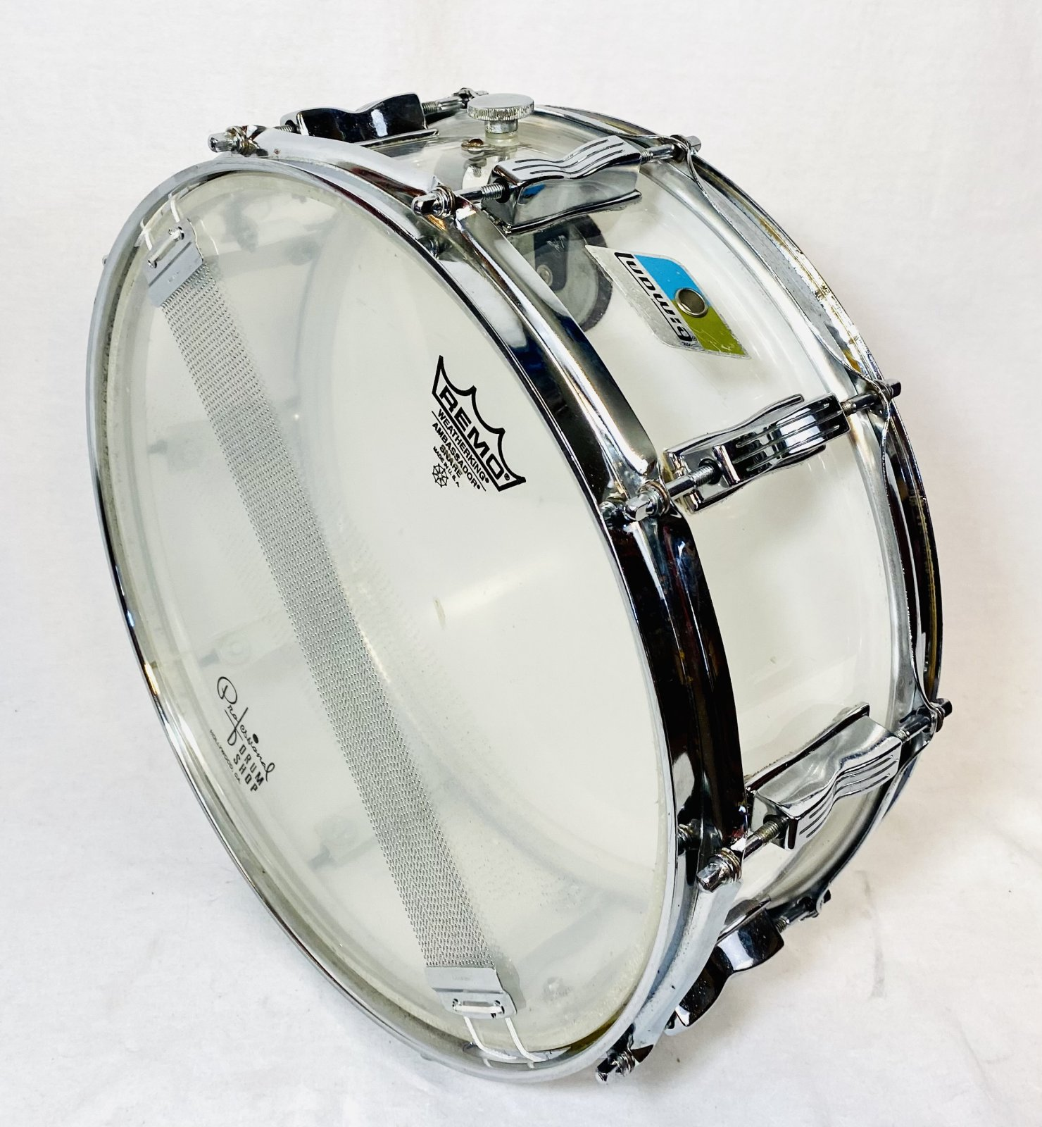 LUDWIG 1976 CLEAR VISTALITE 14X5 SNARE DRUM