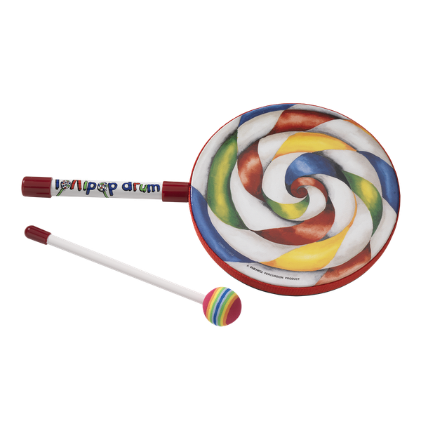 REMO 1X6 LOLLIPOP DRUM WITH FABRIC MALLET