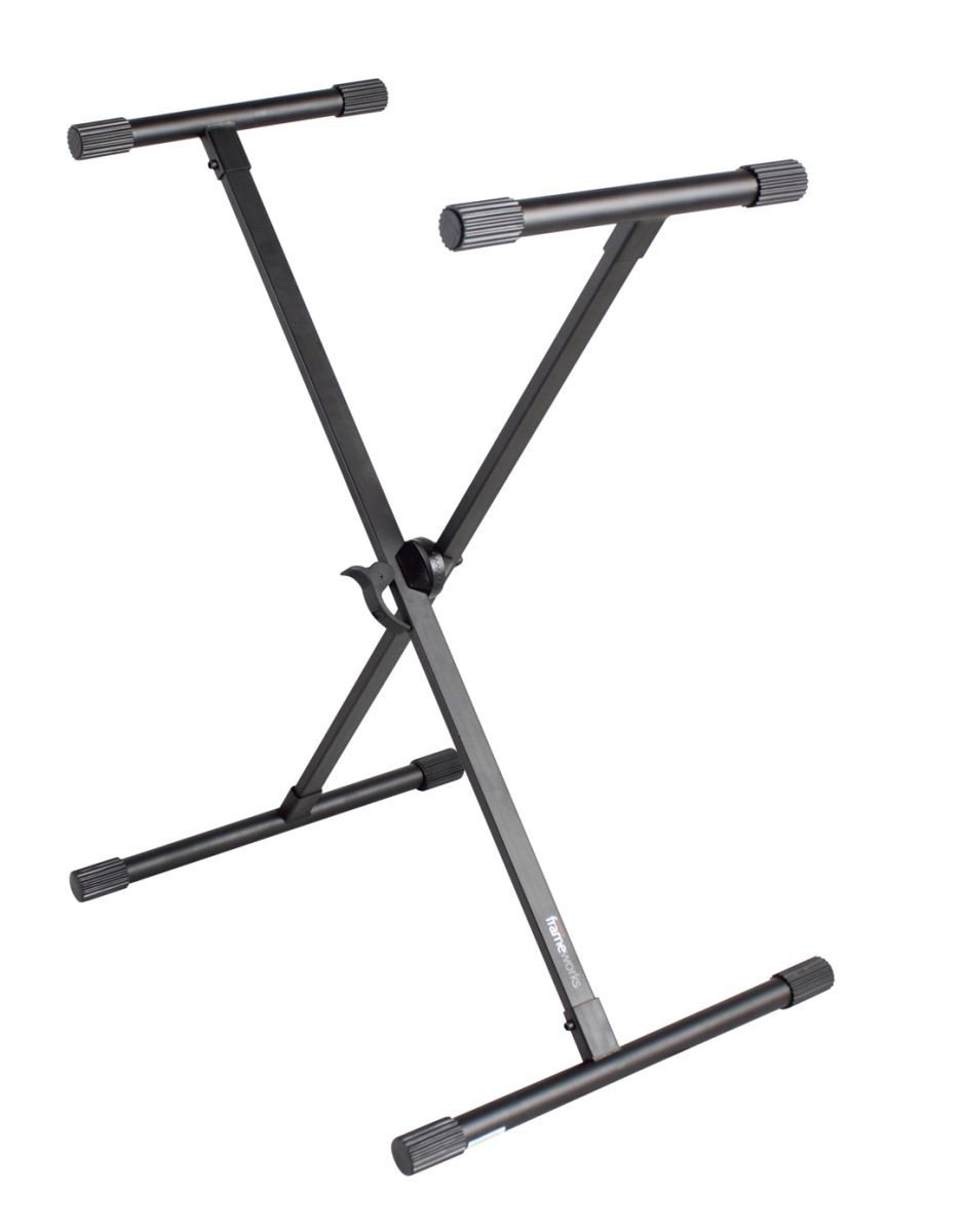 GATOR GFW-KEY-1000X FRAMEWORKS ADJUSTABLE X STYLE KEYBOARD STAND WITH RUBBERIZED LEVELING FOOT