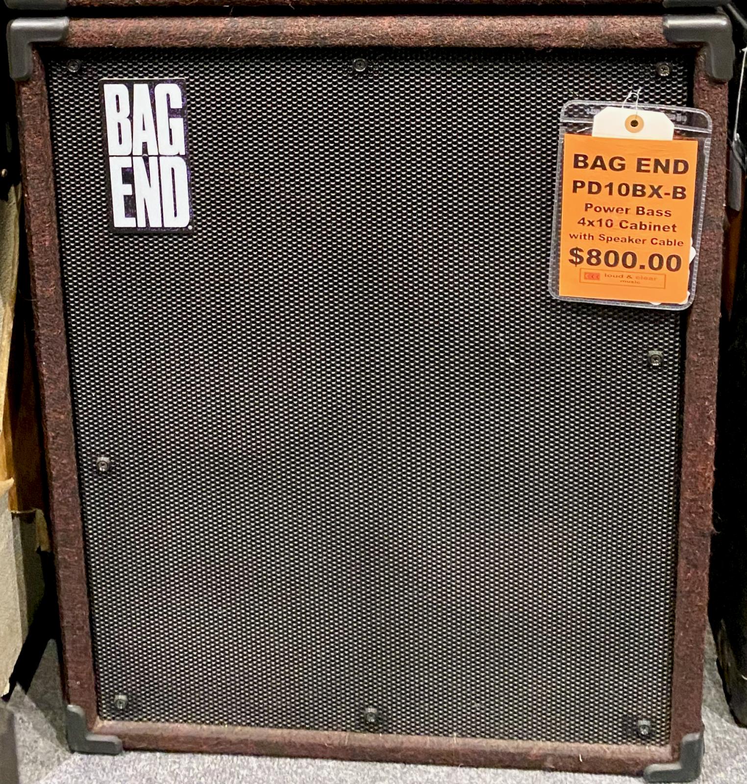 BAG END 4X10 POWERHOUSE POWERED BASS CAB
