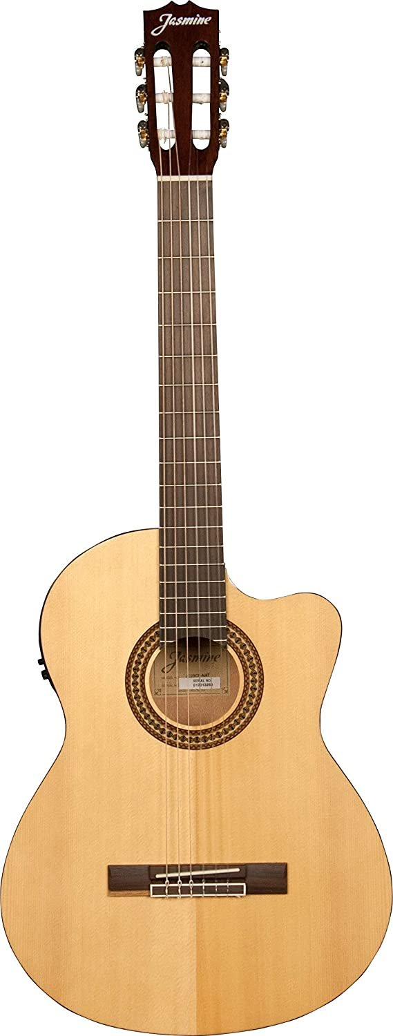 JASMINE JC25CE-NAT CLASSICAL CUTAWAY ACOUSTIC/ELECTRIC GUITAR NATURAL