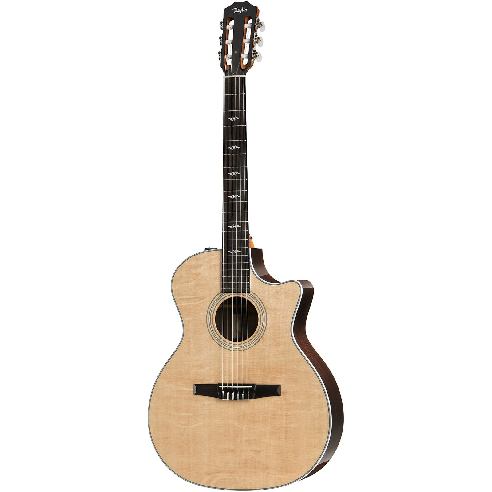TAYLOR 414CE-N NYLON STRING ACOUSTIC ELECTRIC GUITAR W CASE