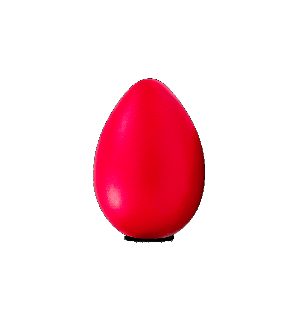 LATIN PERCUSSION LP0020RD LARGE EGG SHAKER, RED