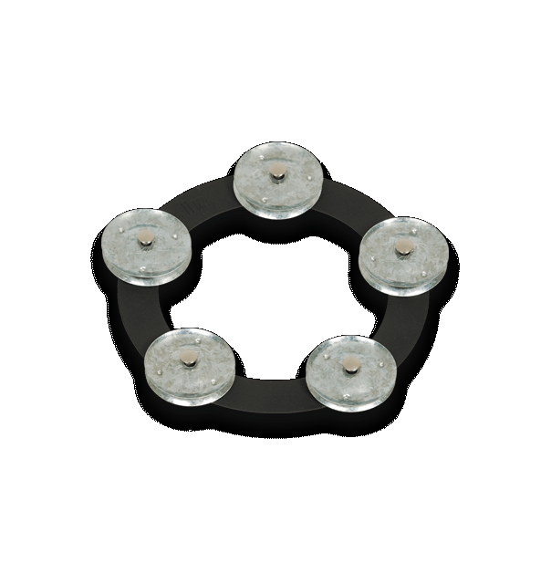 LATIN PERCUSSION 6 TAMBO-RING - BLACK SAND WITH GALVANIZED STEEL JINGLES