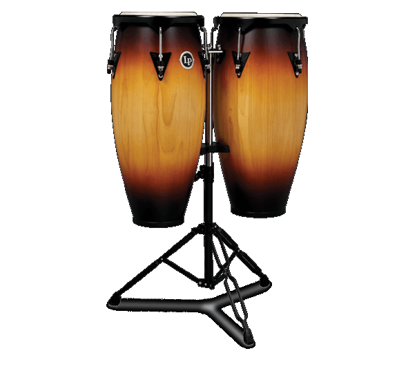 LATIN PERCUSSION LP646NY-VSB CITY CONGA SET W STAND, VINTAGE SUNBURST