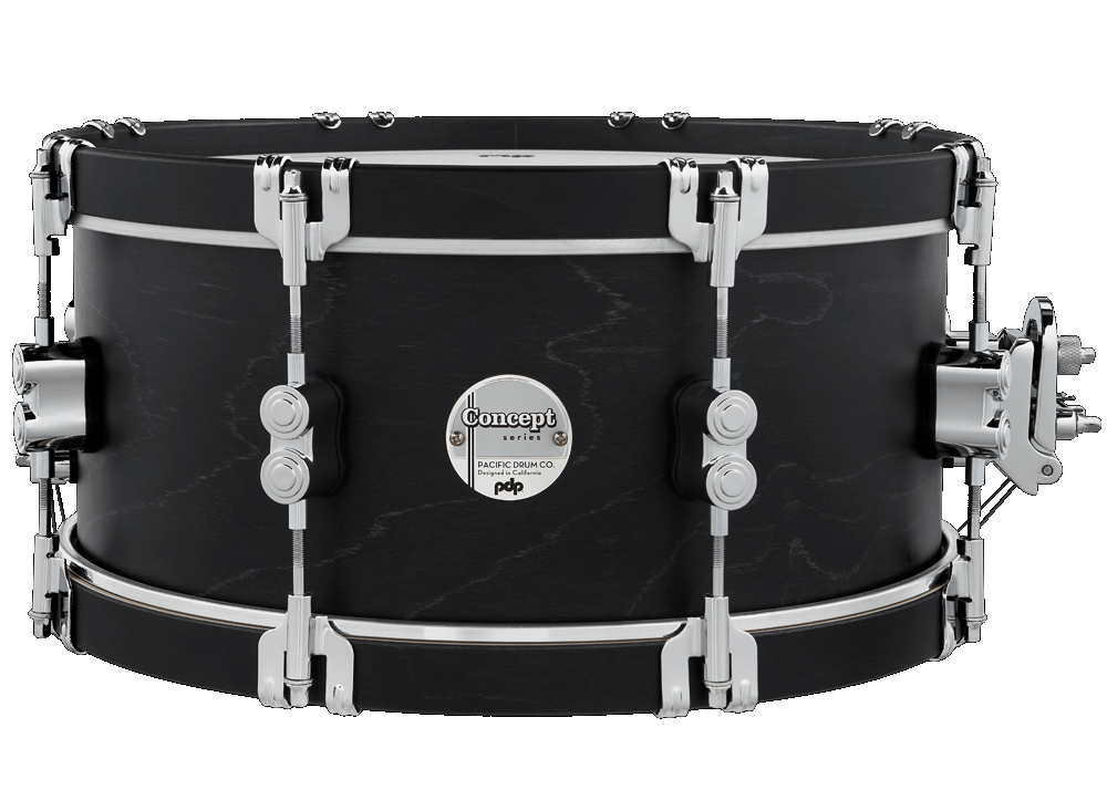 PDP CONCEPT MAPLE SERIES 6.5X14 SNARE DRUM, EBONY WOOD/HOOPS