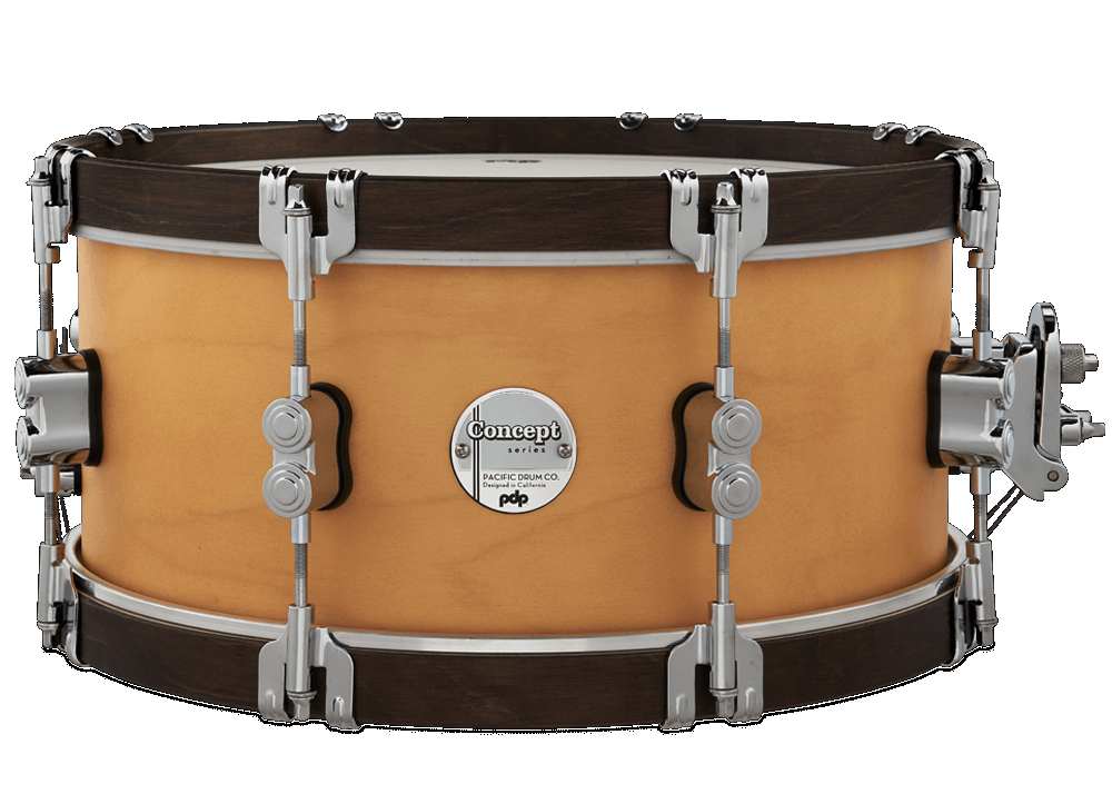 PDP CONCEPT MAPLE SNARE DRUM, NATURAL WOOD BODY