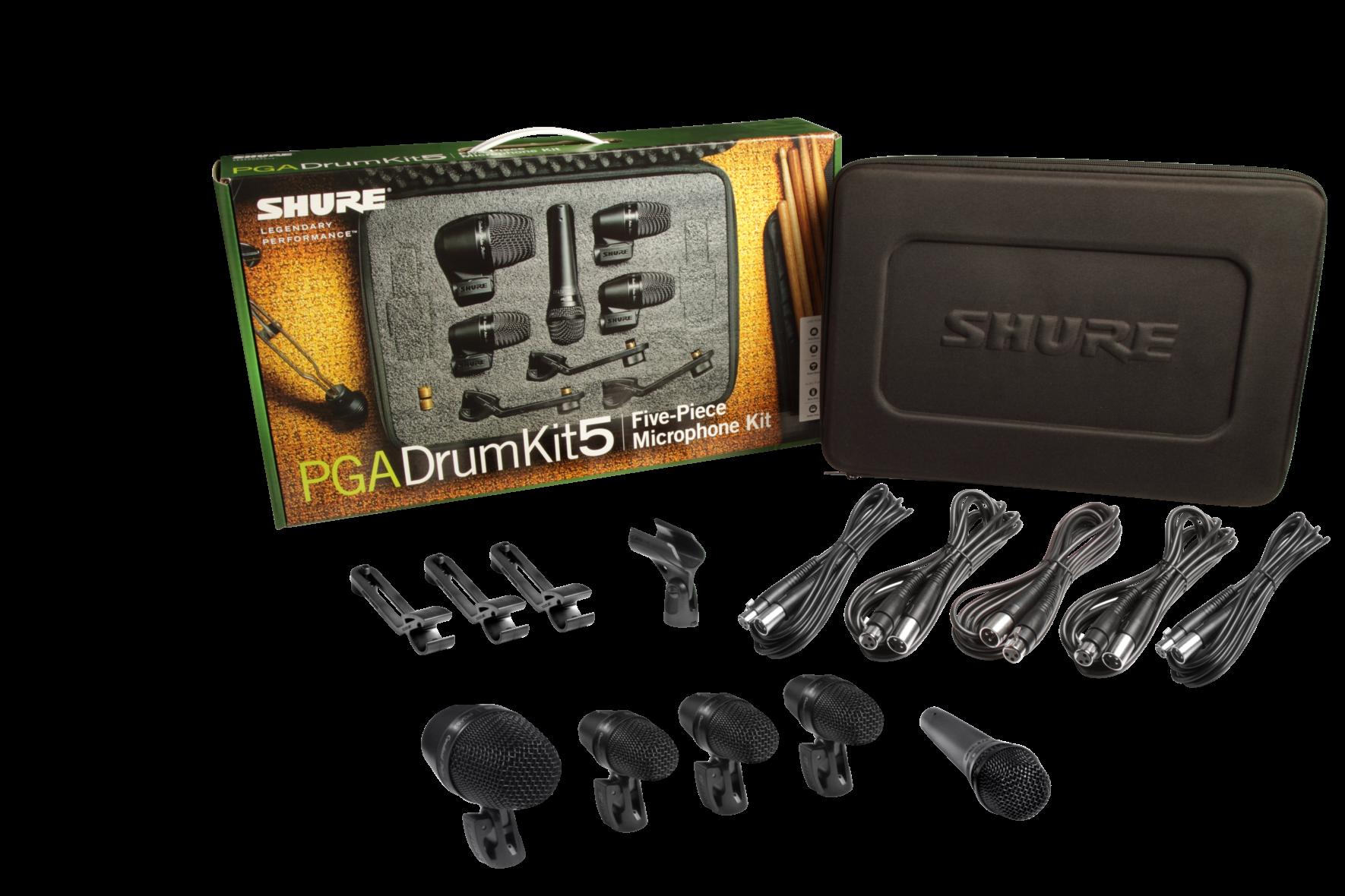 SHURE PGA DRUM KIT 5 DRUM MICROPHONE PACK
