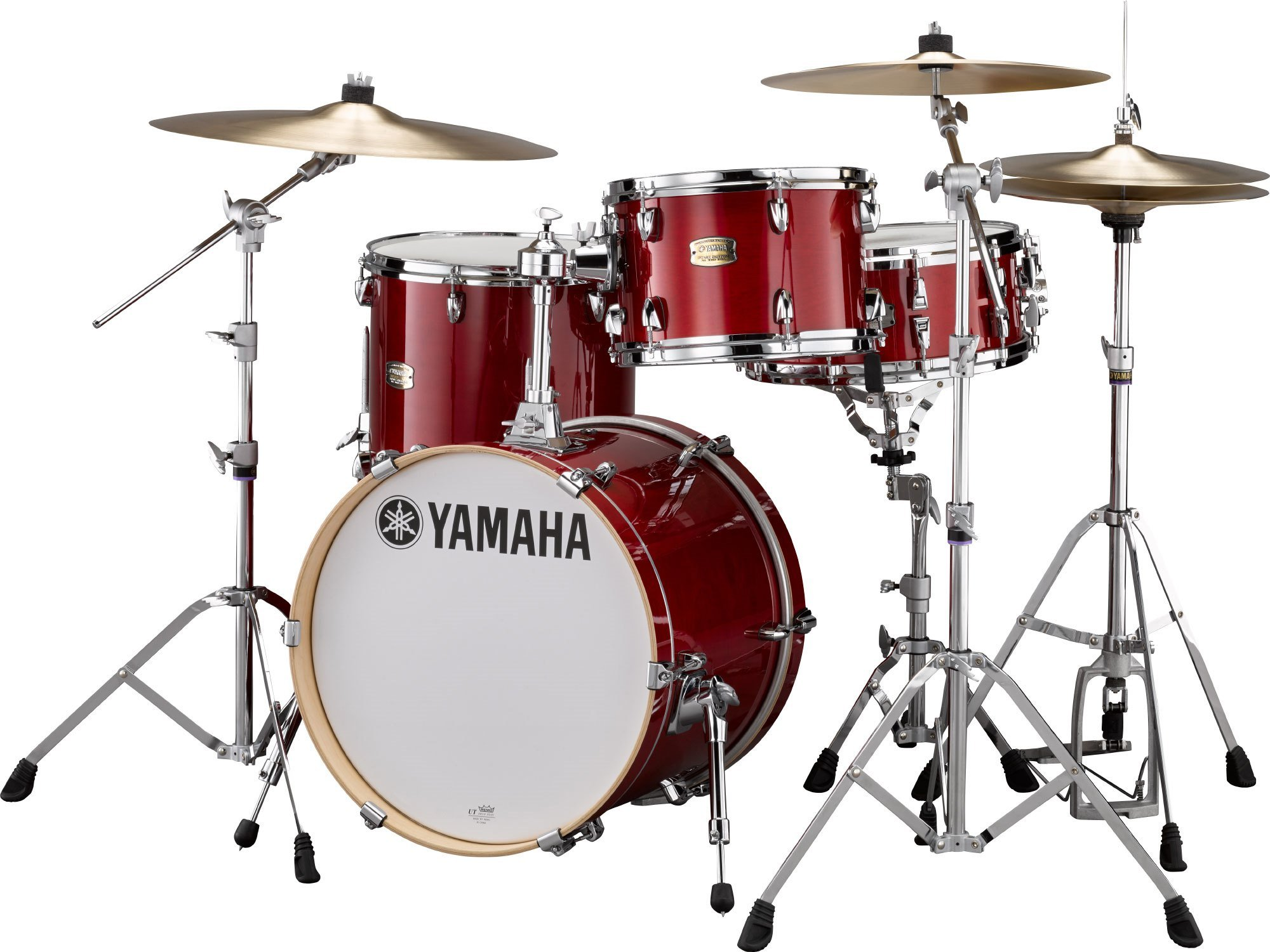 YAMAHA SBP8F3CR STAGE CUSTOM BOP KIT, 3-PEICE DRUM SHELLS, CRANBERRY RED