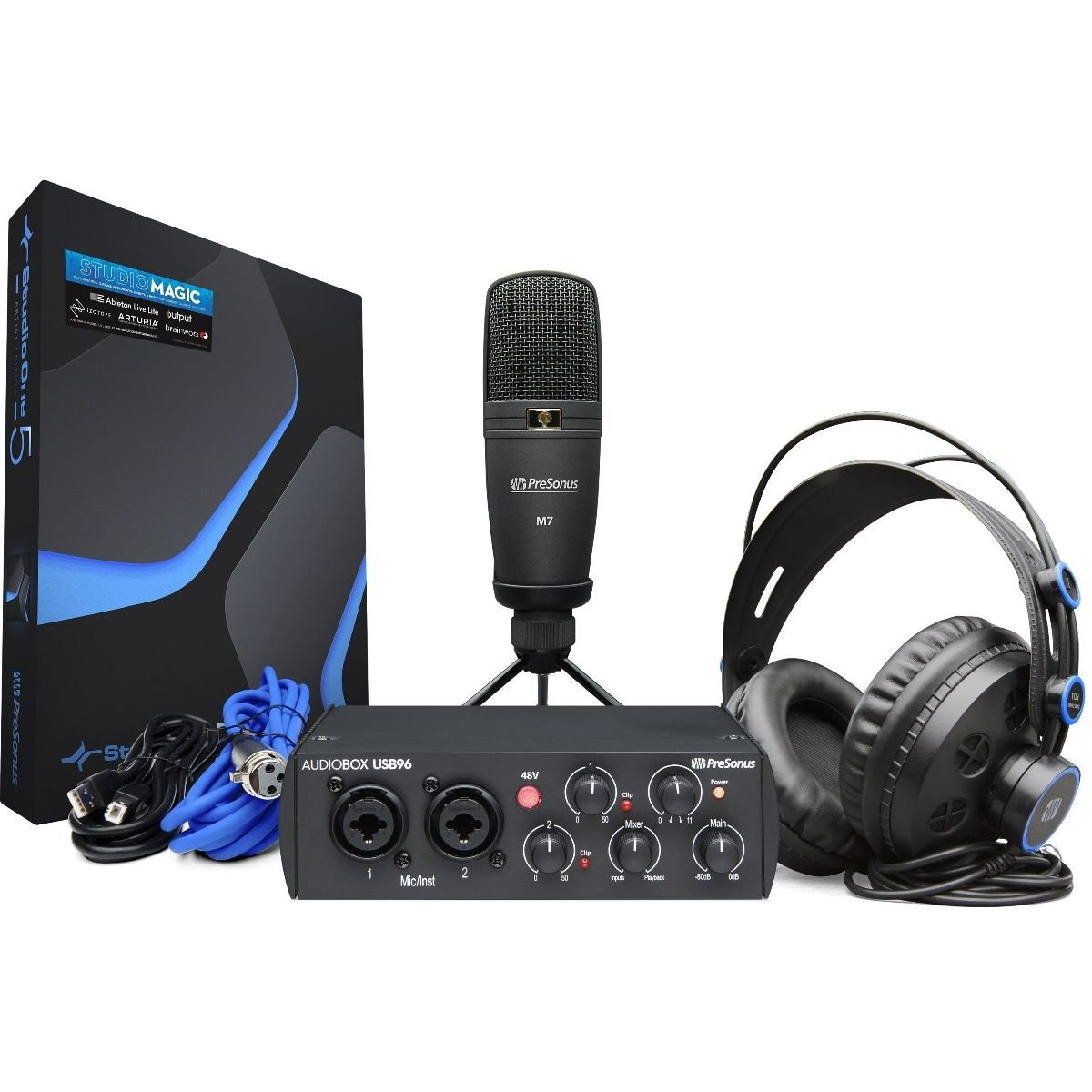PRESONUS AUDIOBOX 96K 25TH ANNIVERSARY STUDIO BUNDLE, USB AUDIO INTERFACE AND ACCESSORIES