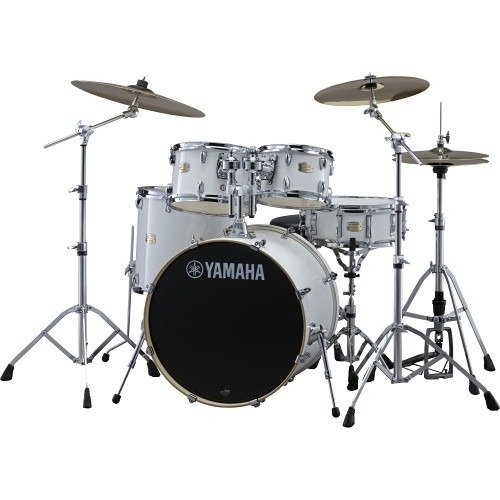 YAMAHA SBP2F50PW STAGE CUSTOM 5-PIECE DRUM SHELLS, PURE WHITE