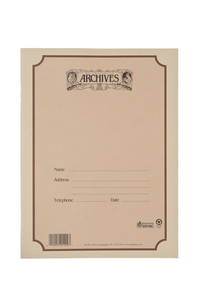 #75 Student Size 12 Stave 64 pg Manuscript Book