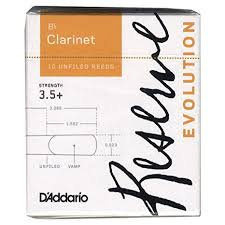 D'Addario Reserve Bb Clarinet Reeds, Strength 3.5+, 10-Pack