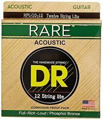 DR Rare Phosphor Bronze 12-String Guitar Set