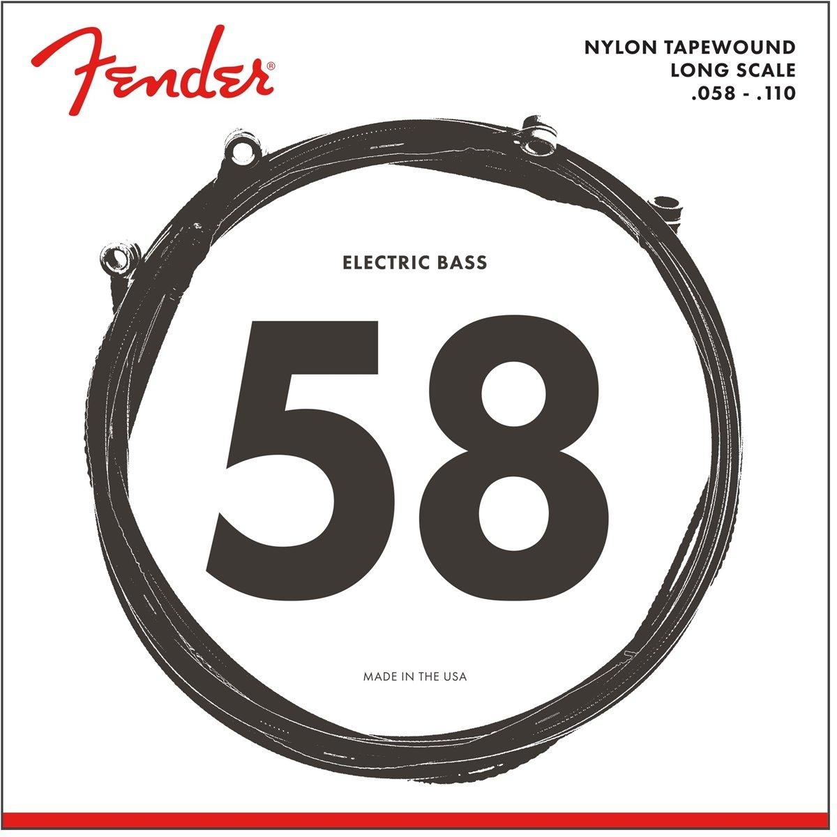 Fender Nylon Tape Wound Electric Bass Strings, 9120M - Medium (58 - 110)