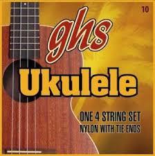 GHS 10SET Standard Ukulele - Nylon W- Tie Ends