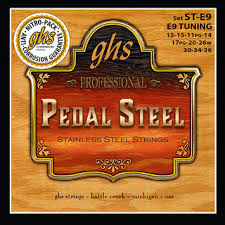 GHS Professional Pedal Steel E9 Tuning Set ST-E9 Stainless Steel Strings