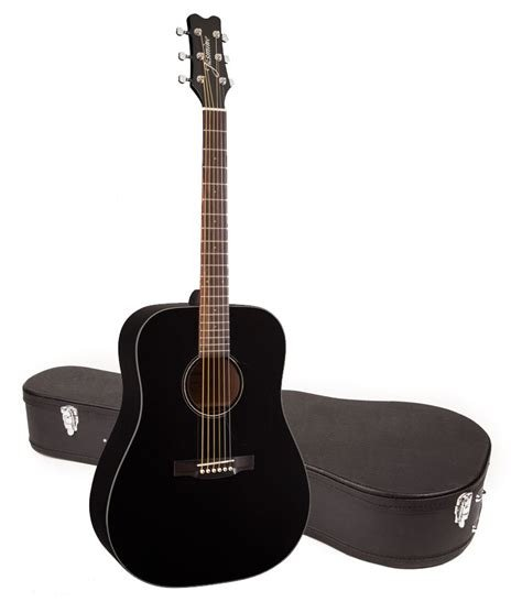 Jasmine JD39 Acoustic Guitar with Hardshell Case_Sunburst or Black Gloss