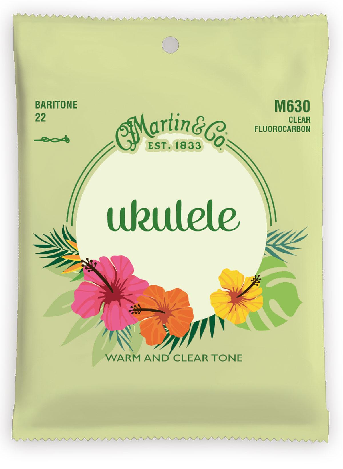 Martin & Co - Ukulele - Baritone Clear Fluorocarbon - M630