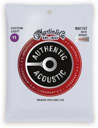 Martin Guitar Strings -  Authentic Acoustic Lifespan 2.0 80/20 Cstm Lite - MA175T
