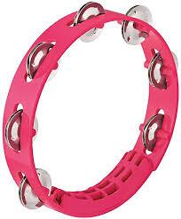 Nino Compact ABS Tambourine, 8 - Pink