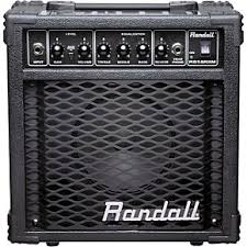 Randall 15w Practice Amp Blk Chrome Metal Grill