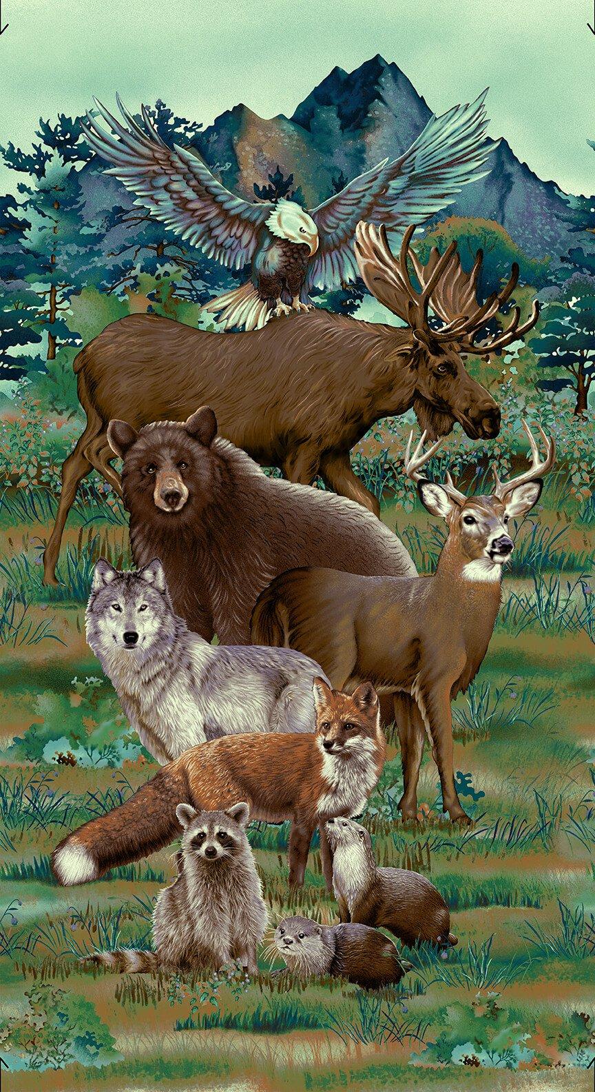 Animal Panel - Spruce