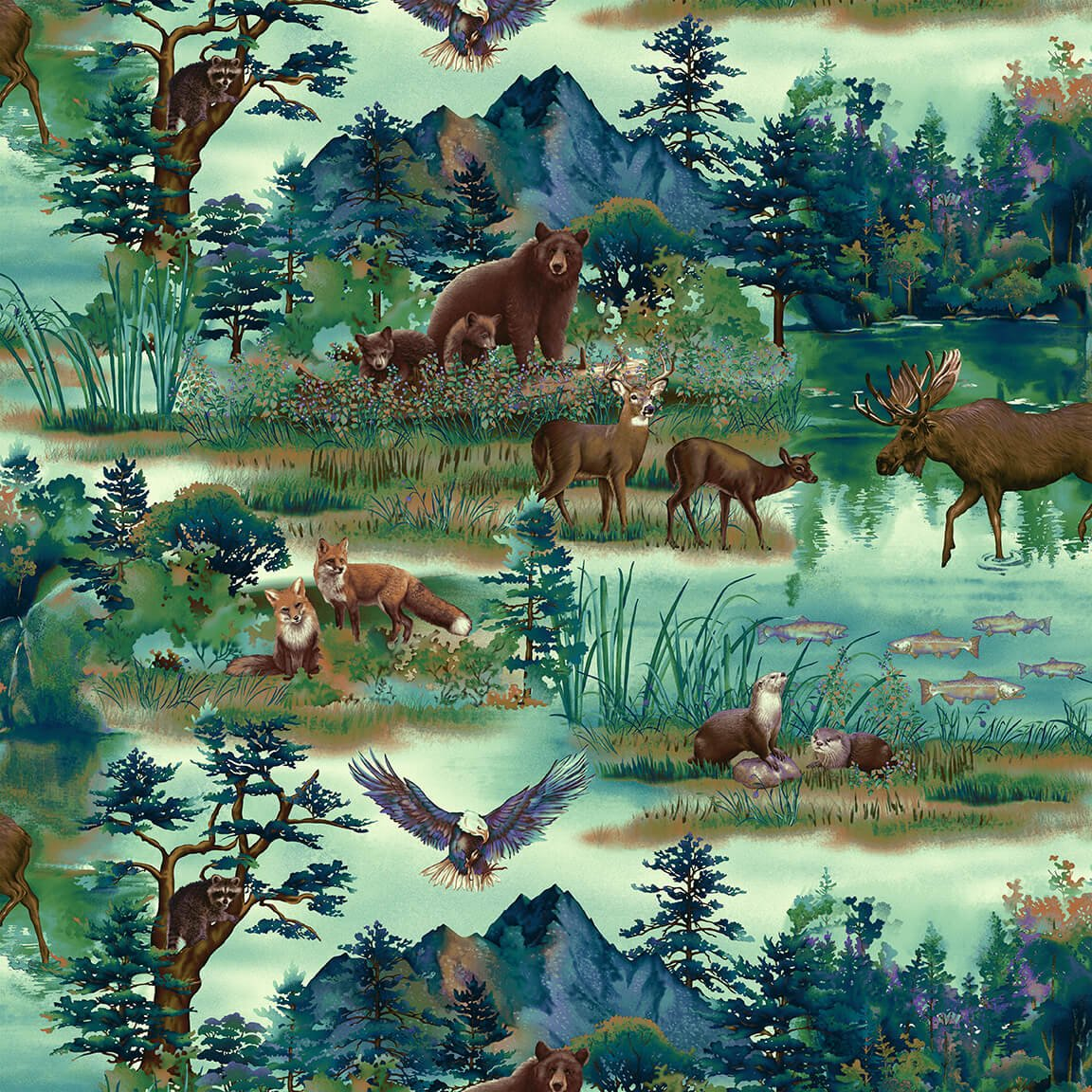 Scenic Animals Fat Quarters