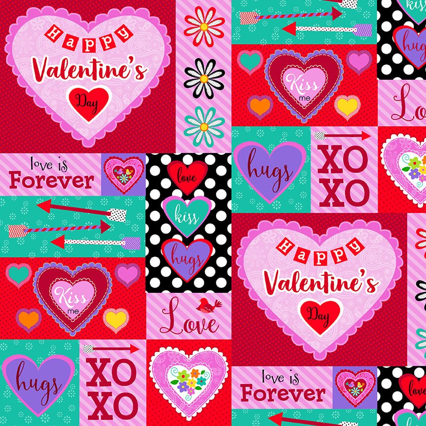 Valentine Patch Fat Quarters