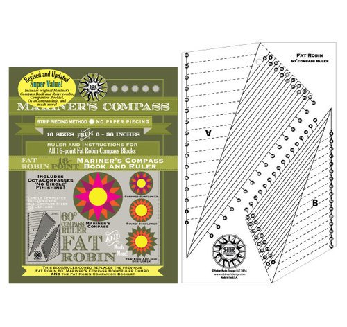 Fat Robin Mariners Compass Book and Ruler Combo