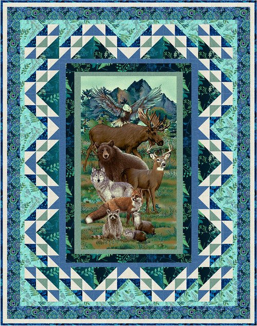 Woodland Wonders Panel Quilt Kit