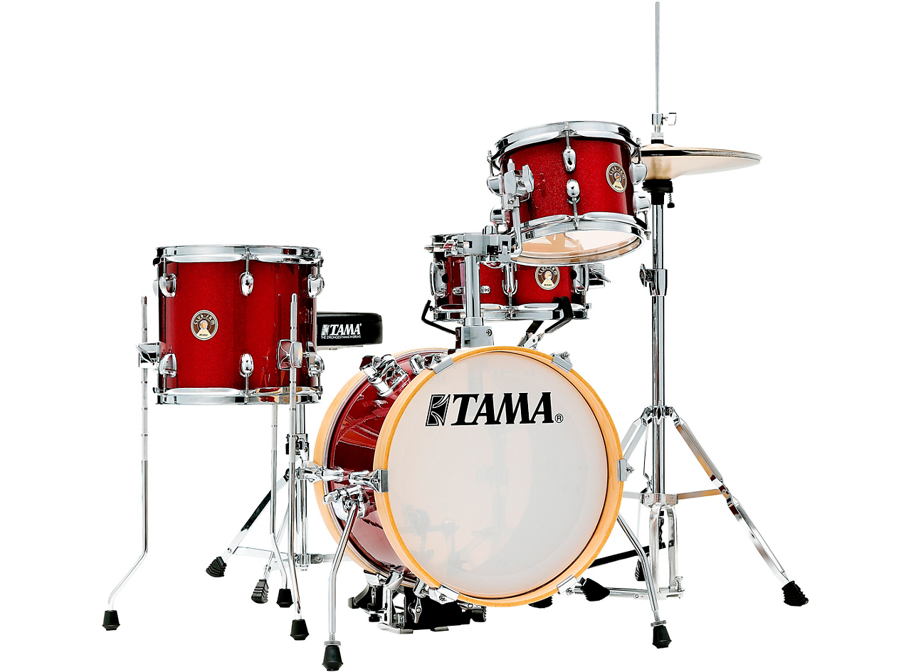TAMA Club-JAM Flyer 4-Piece Shell Pack With 14 Bass Drum (Candy Apple Mist)