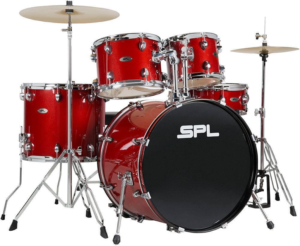 SPL UNITY 5PC DRUM SET WITH CYMBALS AND STOOL DESERT ROSE  SPECKLE