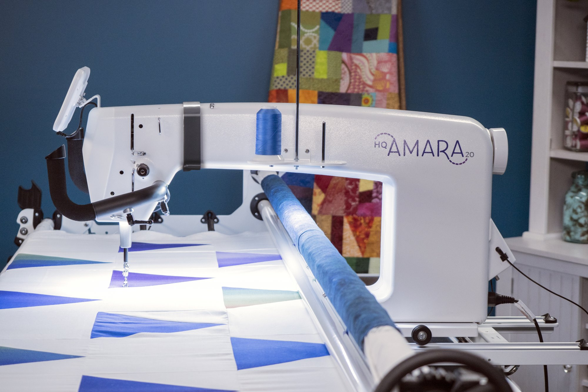 Amara w/ Pro-stitcher and Prostitcher Design on 12 foot frame