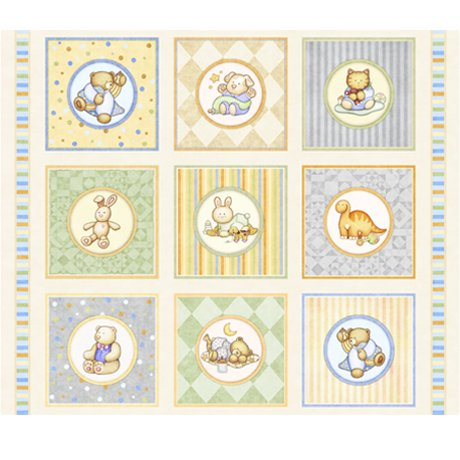 Lullaby Baby Animal Pictures Patches - Cream