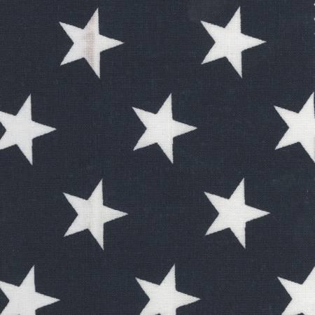 Navy Patriotic stars Quilt Backing