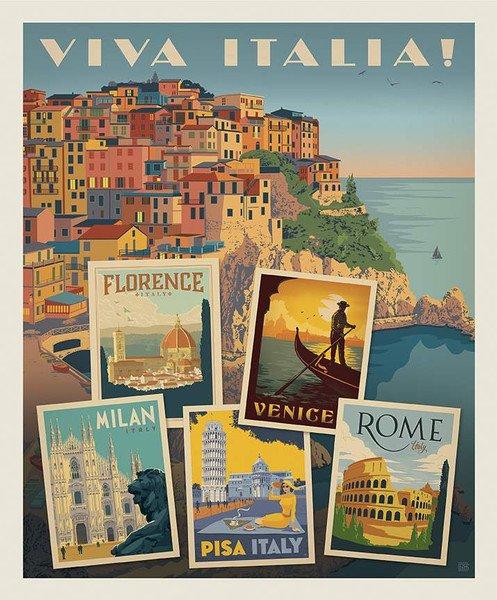 Destinations Viva Italia Poster Panel