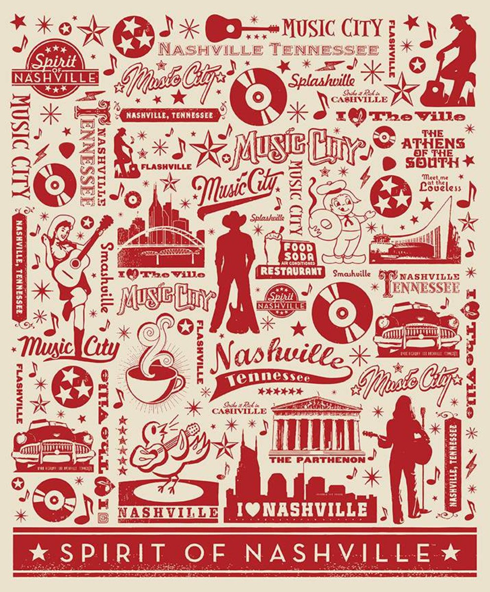 Destinations Spirit of Nashville Poster Panel