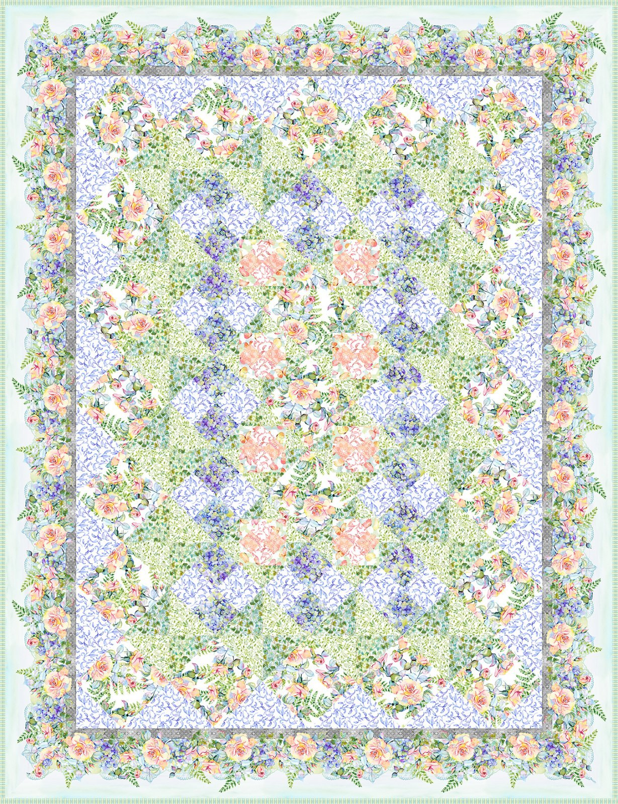 The Patricia Quilt Pattern 74 X 97