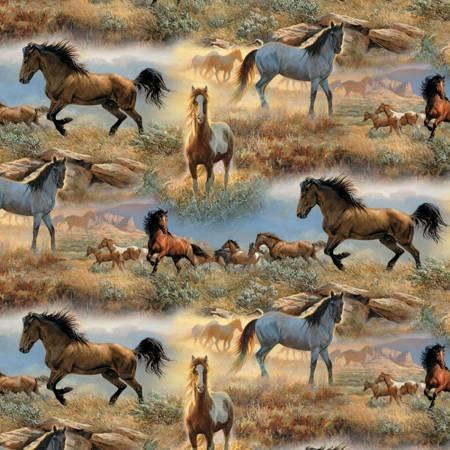 HORSES IN THE PRAIRIES