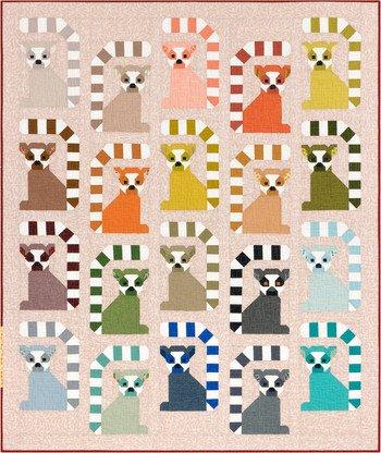 Adventure Lana Lemur Quilt Kit 64in x 76in