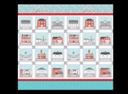 All Iowa Shop Hop 2021 Iowa Town Square Panel Aquas 83258