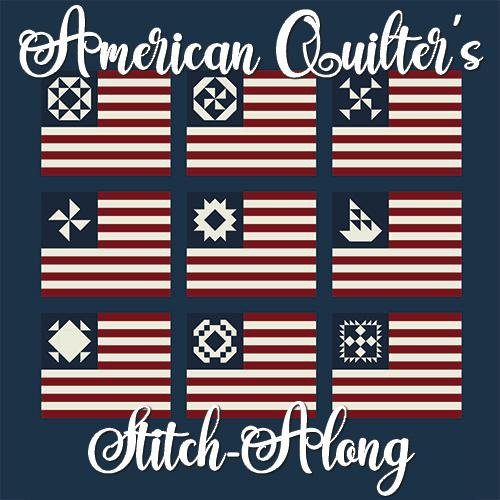 Primitive Gatherings - American Quilter's Stitch-Along Fabric Kit NAVY