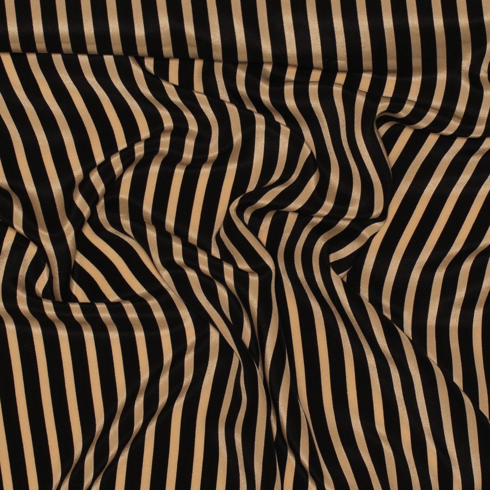 Taupe and Black Striped Silk
