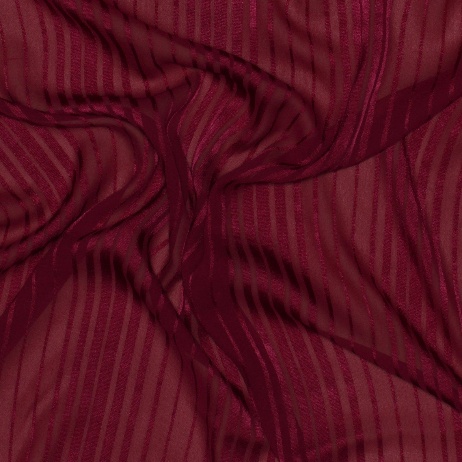 Fucshia Silk Satin Stripe