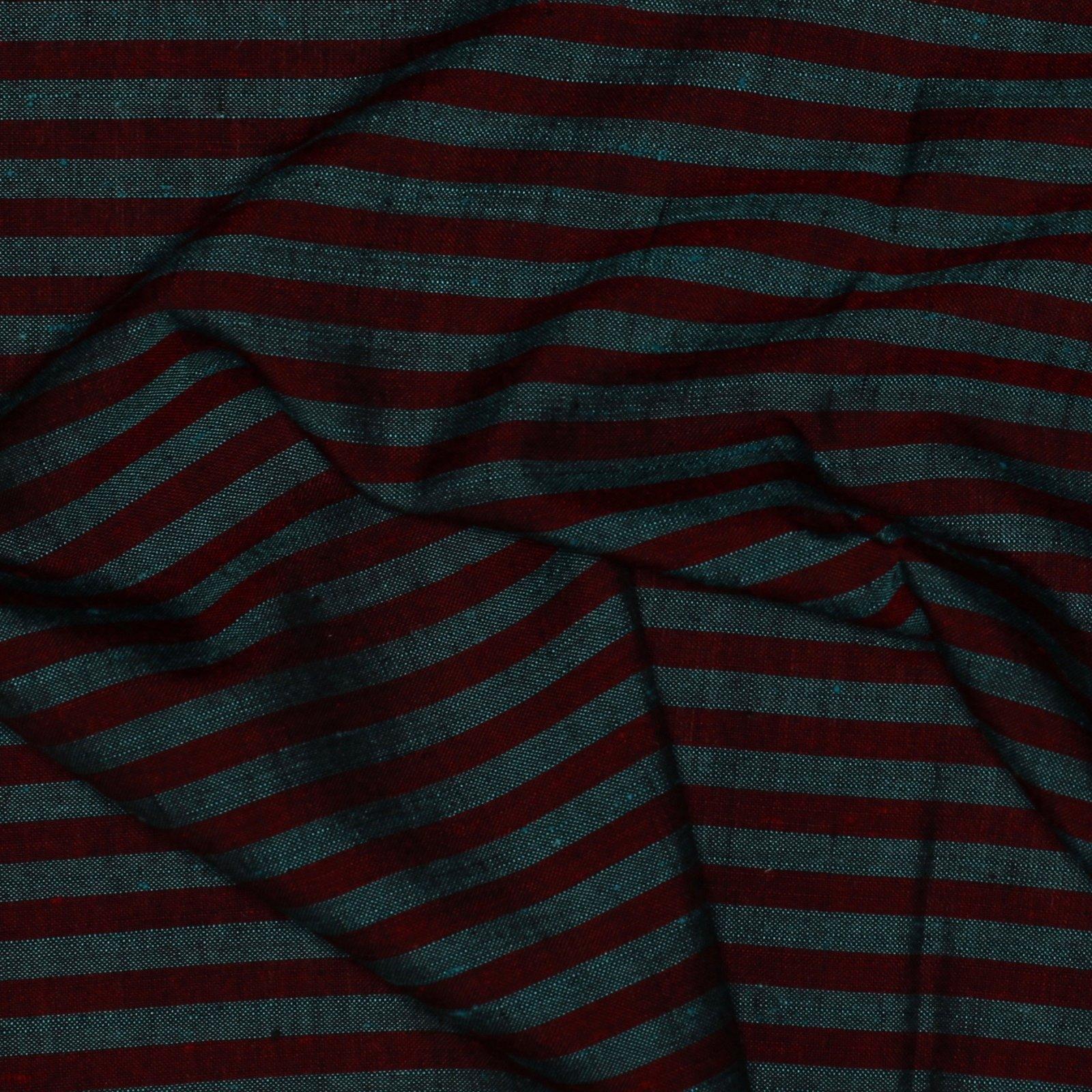 Anne Klein Silk/Cotton Teal/Red Stripe